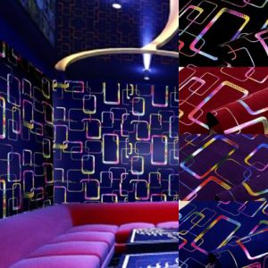 3D Colorful Pattern Glitter Flocking Wallpaper (JSL163-011)