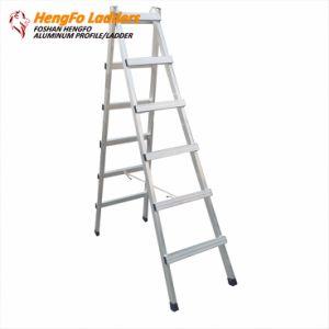6 Steps Welded Walking Ladder Aluminum Ladder pictures & photos