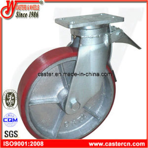 12 Inch Heavy Duty PU Scaffold Caster pictures & photos