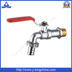 Nickel Plated Brass Sanitary Bibcock Tap with Washing Connector (YD-2001) pictures & photos