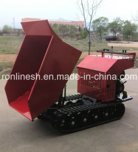 Fully Hydraulic 9HP, 270cc Engine Power, 500kgs Rubber Track Mini Dumper/Power Barrow/Muck Truck/Garden Transporter/Loader/Mini Transporter/Crawler Dumper pictures & photos