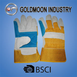 10.5′′ Cow Split Leather Welding Reinforced Palm Safety Work Glove pictures & photos