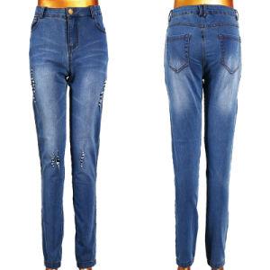 Women Broken Tear Washing Jeans