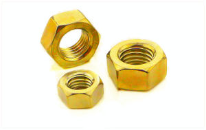 DIN934 Hexagon Nut with Yellow Zinc pictures & photos