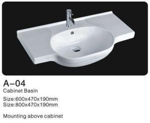 Rectangle Ceramic Cabinet Washbasin, Bathroom Ceramic Wash Basin pictures & photos