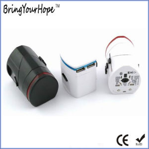 Travel Adapter with Dual USB Charger (XH-UC-040) pictures & photos