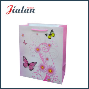 Retro Series with Lotus Flowers Shopping Carrier Gift Paper Bag pictures & photos