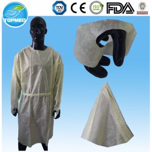 Free Samples! Disposable Lab Coat/Non-Woven Lab Coat From Topmed pictures & photos