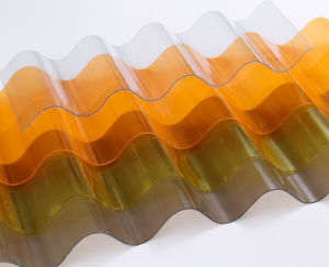 High Impact Strength Clear Polycarbonate Sound Barrier Corrugated PC Roofing Sheet pictures & photos