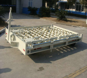 Airport Caster Wheeled Pallet Dolly Container Dolly pictures & photos
