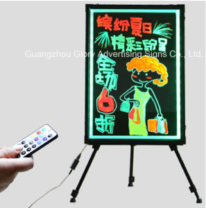 LED Writing Board Flashing Light Settings with Marker Pen pictures & photos