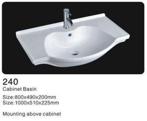 Rectangle Ceramic Washbasin, Bathroom Cabinet Wash Basin pictures & photos