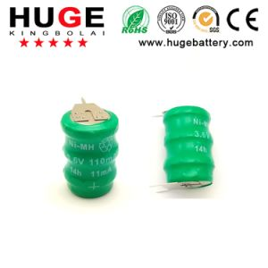 3.6V Rechargeable Ni-MH Button Cell Battery (Ni-mh) pictures & photos