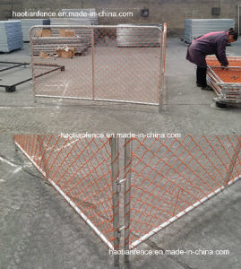 Orange Construction Chain Link Fence Panel for New Zealand pictures & photos