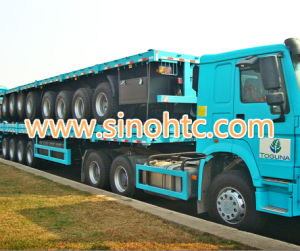4 axles Bulk Cargo & container truck semi trailer pictures & photos