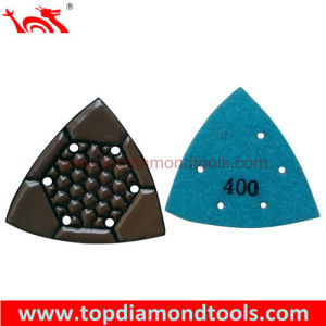Triangular Dry Diamond Polishing Pads for Concrete Ege and Corner Polishing pictures & photos