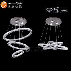 LED Crystal Pendant Lamp Light, Modern Ceiling Lighting Chandelier (OM77059) pictures & photos