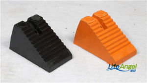 Black Orange Color Rubber Wheel Chocks for Truck pictures & photos