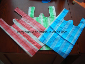 Plastic Stripe Bag Carrier Bag for Shopping pictures & photos