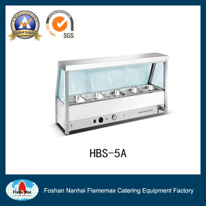 Stainless Steel 5 Pan Bain Marie Showcase (HBS-5A) pictures & photos