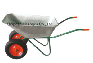 Zinc Bucket Construction Wheelbarrow