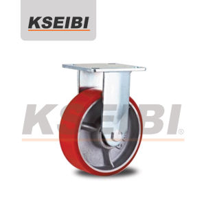 High Quality Kseibi Heavy Duty Rigid PU Cast Iron Caster pictures & photos