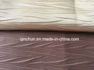 100%Polyester Two-Tone Pleated Fabric for Curtain