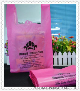 Plastic HDPE Custom Printed T-Shirt Bag Singlet Bag pictures & photos