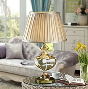 Phine 90232 Clear Crystal Table Lamp with Fabric Shade pictures & photos