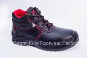 High Cut Black Embossed Buffalo Leather Safety Shoe U Power-R2