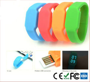 Latest Rechargeable Silicone USB LED Watch (mic-234)