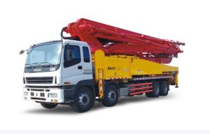 Isuzu 8X4 Concrete Pump Truck 4boom pictures & photos