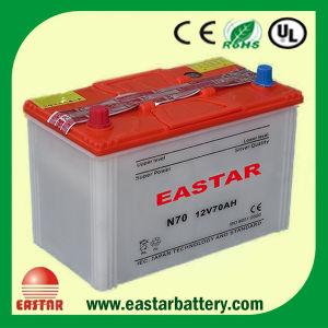 12V 70ah Lead Acid Dry Car Battery JIS Standard N70 pictures & photos