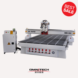 2043 CNC Router with 2 Hsd Aircooling Spindle