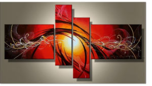 Handpainted Home Decorative Abstract Oil Painting for Wall Decor Art (XD4-030) pictures & photos