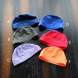 Elastic Polyester Swimming Bathing Swim Cap Hat pictures & photos