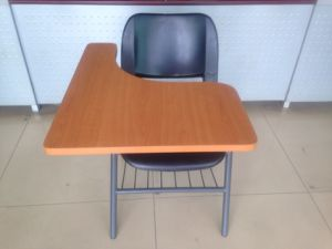 Plastic Student Chair with Big Size Wood Writing Tablet for Classroom pictures & photos
