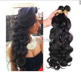 Body Wave Remy Hair Machine Made Brazilian Hair Weft pictures & photos