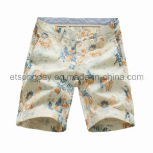 Colorful Flower Printed 100% Ctotton Men′s Shorts (41319G5) pictures & photos