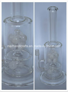 "14"" Boro Glass Smoking Water Pipe with Milky White Perc pictures & photos"