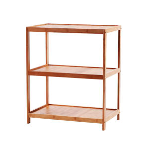 Bamboo 3-Layers Rack Bamboo 3 Tier Storage Shelf pictures & photos