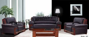 Black PVC Modern Popular Home Furniture Sofa
