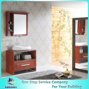 Bathroom Cabinets02 Standard Red Shaker Door Solid Wood Kitchen Cabinet pictures & photos