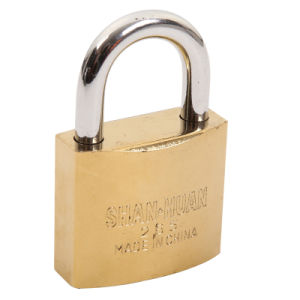 Polished Brass Finish Iron Padlock (SS-049) pictures & photos