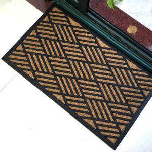 Embossing Engraving Molded Durable Rubber Backing Entryway Coco Coir Coconut Fiber Door Mats pictures & photos