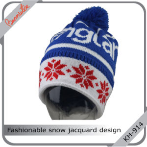 Fashionable Snow Jacquard Design Hat