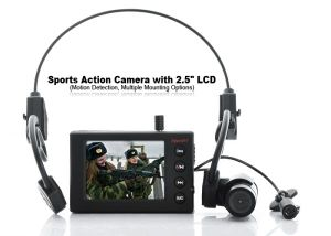 Actioncam - Head Mounted Sports Action Camera with 2.5 Inch LCD Screen pictures & photos