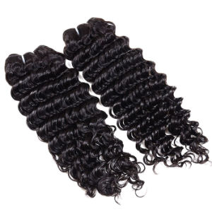 Deep Curly Hair 4 PC/Lot Hot Selling Brazilian Deep Curly Virgin Hair Natural Color Cheap Unprocessed Hair Bundles pictures & photos