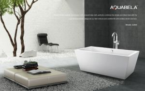 Bathroom Wide Edge Freestanding Acrylic Bathtub pictures & photos