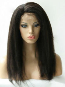 Brazilian Virgin Human Hair Kinky Straight Glueless Full Lace Wigs pictures & photos